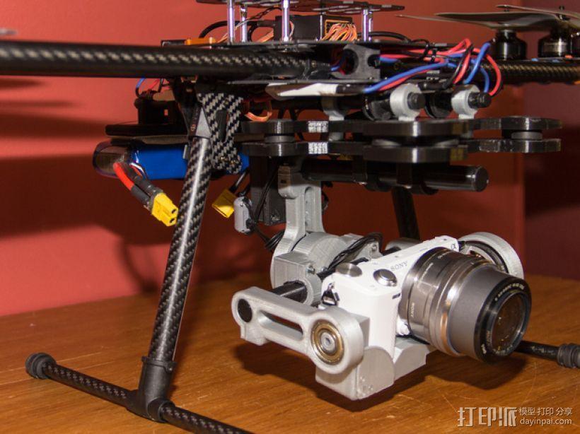索尼相机常平架 3D模型  图6