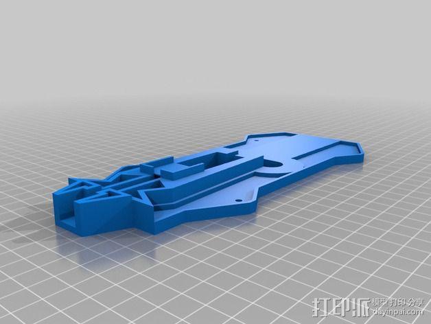 四轴飞行器相机固定架 3D模型  图2