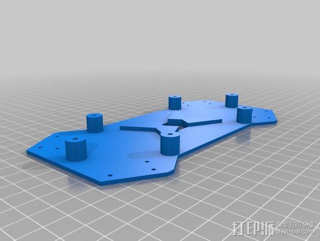 四轴飞行器相机固定架 3D模型  图3