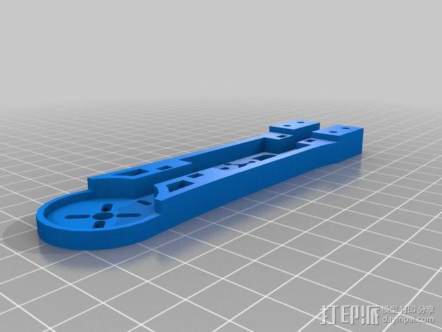 四轴飞行器相机固定架 3D模型  图4