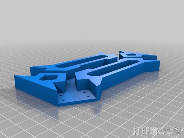 四轴飞行器相机固定架 3D模型  图6