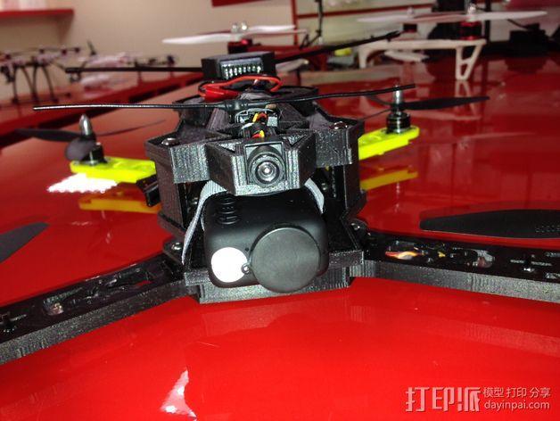 四轴飞行器相机固定架 3D模型  图7