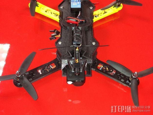 四轴飞行器相机固定架 3D模型  图9