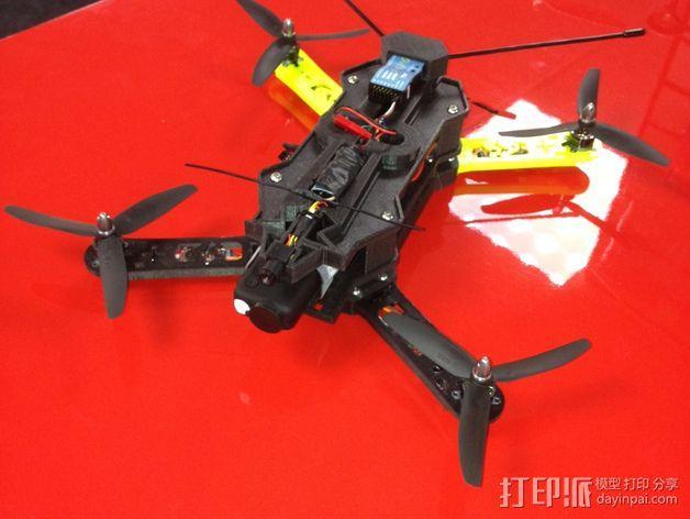 四轴飞行器相机固定架 3D模型  图8