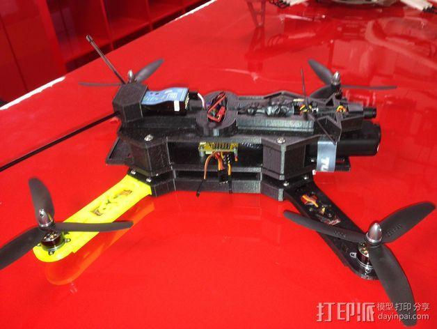 四轴飞行器相机固定架 3D模型  图10