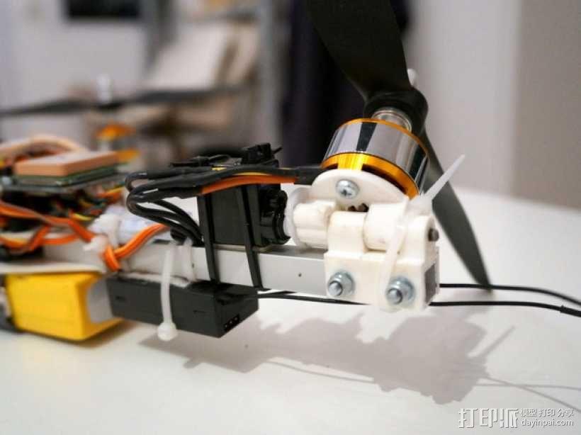 三轴飞行器偏航电机安装架 3D模型  图1