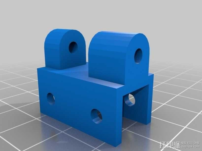 三轴飞行器偏航电机安装架 3D模型  图3