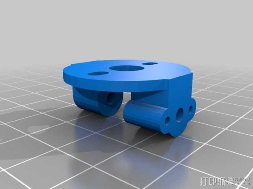 三轴飞行器偏航电机安装架 3D模型  图2
