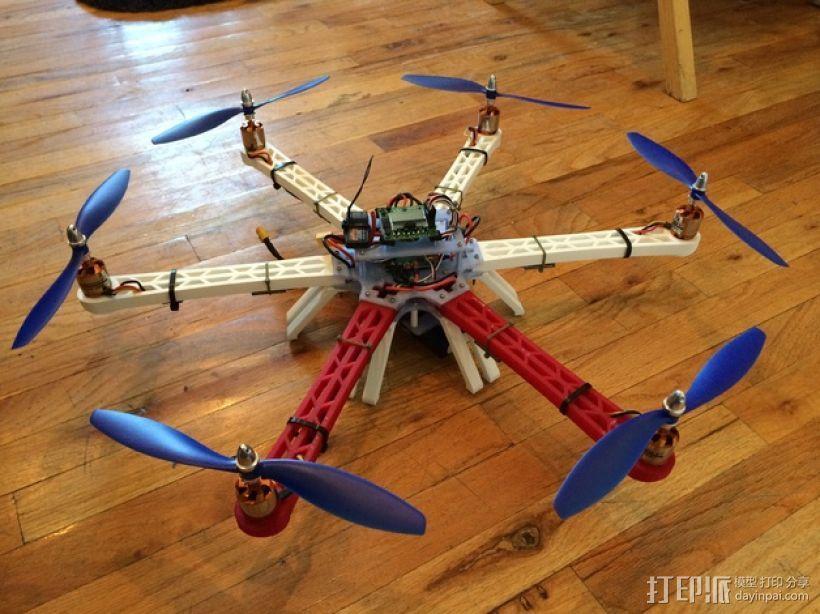 六轴飞行器 3D模型  图1