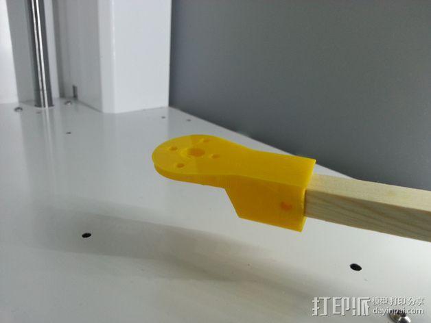 飞行器马达固定槽 3D模型  图3