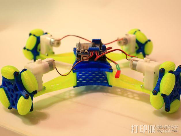 全向轮机器人 3D模型  图2