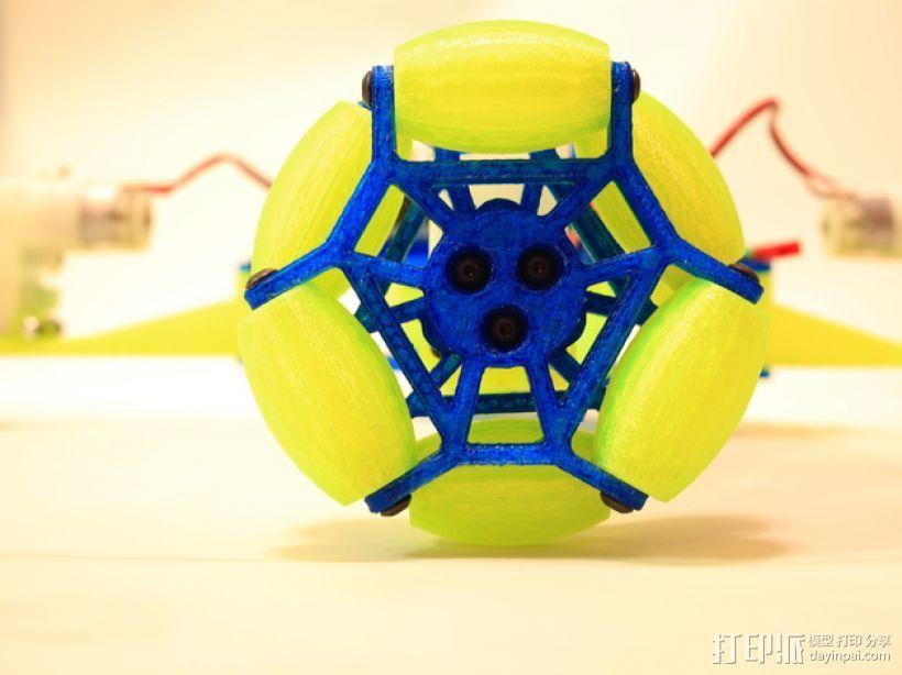 全向轮机器人 3D模型  图5