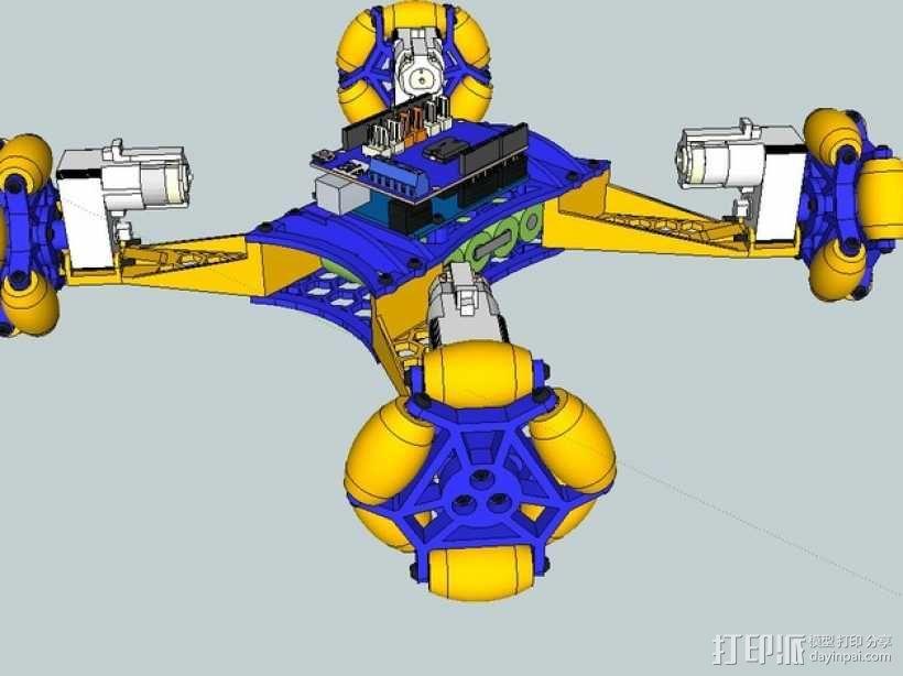 全向轮机器人 3D模型  图6