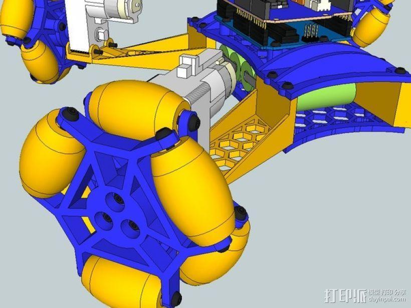 全向轮机器人 3D模型  图9
