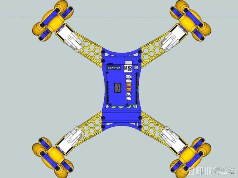 全向轮机器人 3D模型  图8