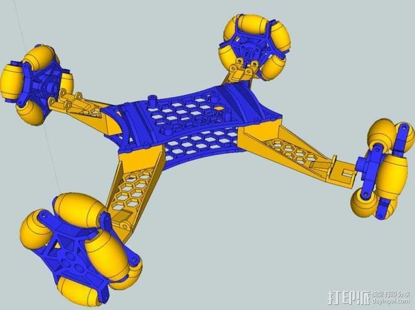 全向轮机器人 3D模型  图10