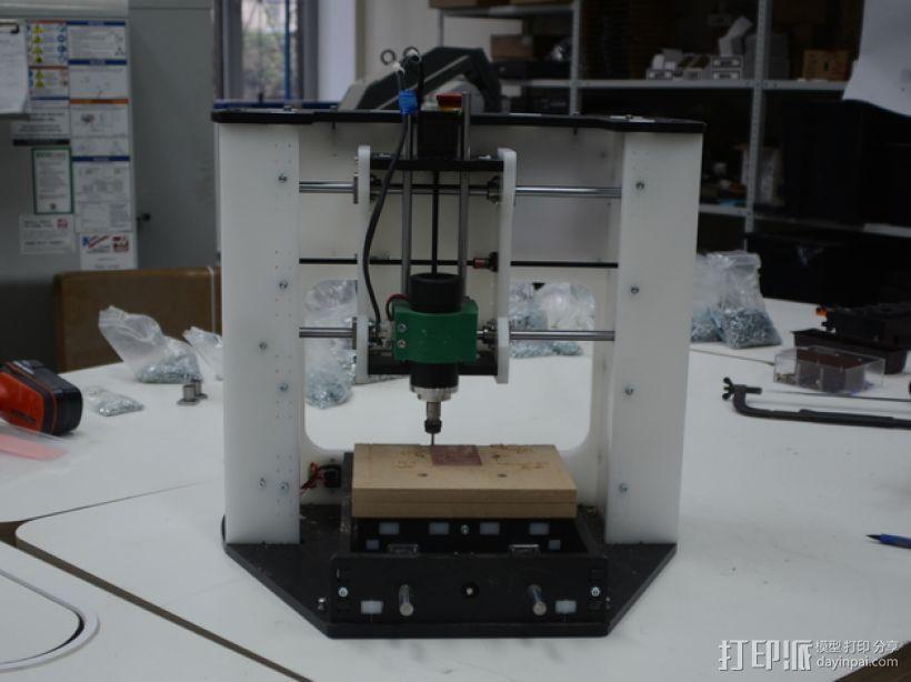 DIY数控台式铣床 3D模型  图1