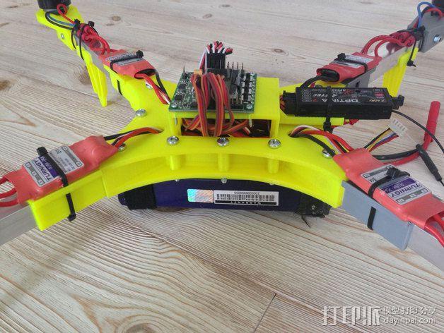 """""""蜂鸟2号""""四轴飞行器 3D模型  图3"""