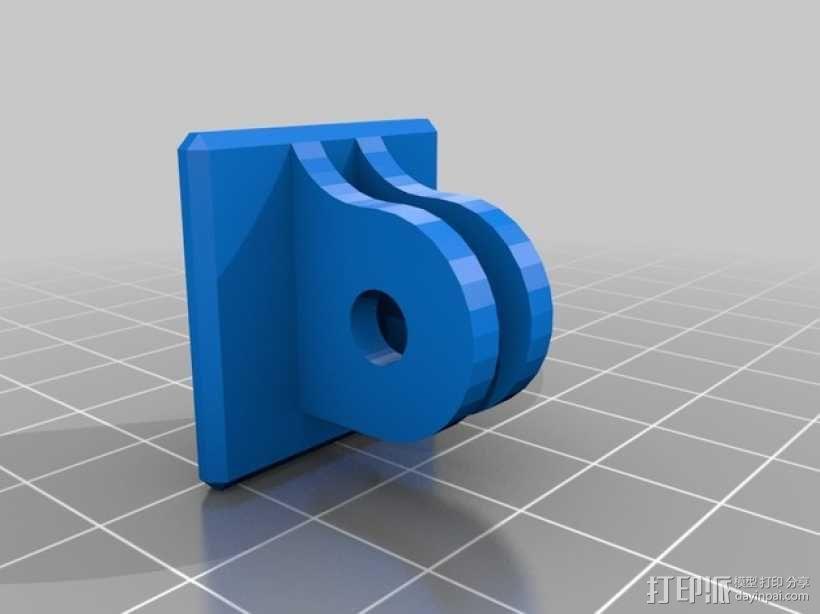 Turnigy 9XR发射机连接支架 3D模型  图2