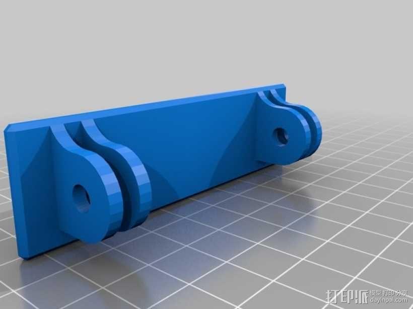 Turnigy 9XR发射机连接支架 3D模型  图3