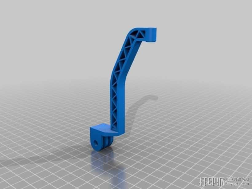 Turnigy 9XR发射机连接支架 3D模型  图4