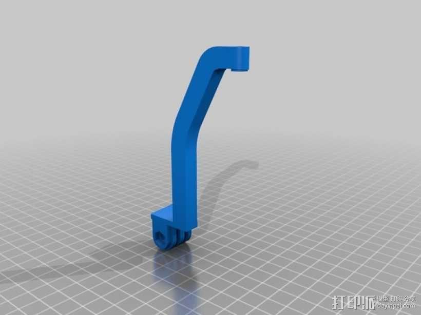Turnigy 9XR发射机连接支架 3D模型  图5