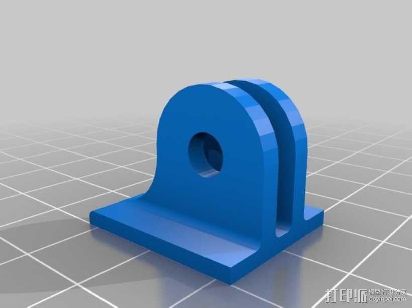 Turnigy 9XR发射机连接支架 3D模型  图6