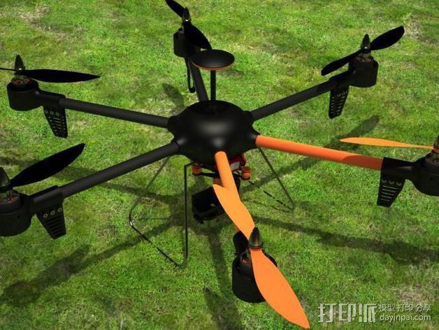 ZENDRONE六轴飞行器 3D模型  图2