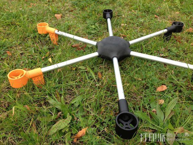 ZENDRONE六轴飞行器 3D模型  图3