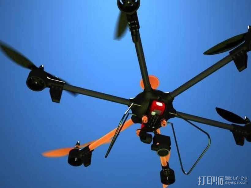 ZENDRONE六轴飞行器 3D模型  图1