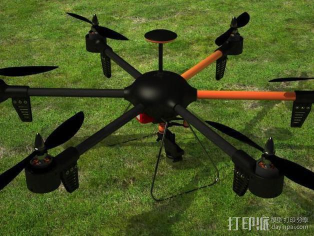 ZENDRONE六轴飞行器 3D模型  图4