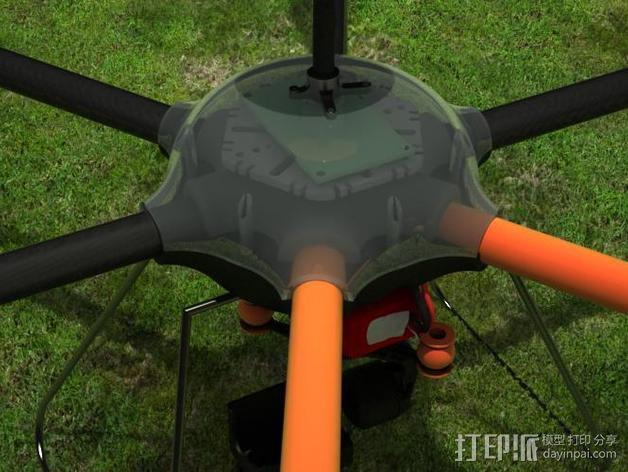 ZENDRONE六轴飞行器 3D模型  图5