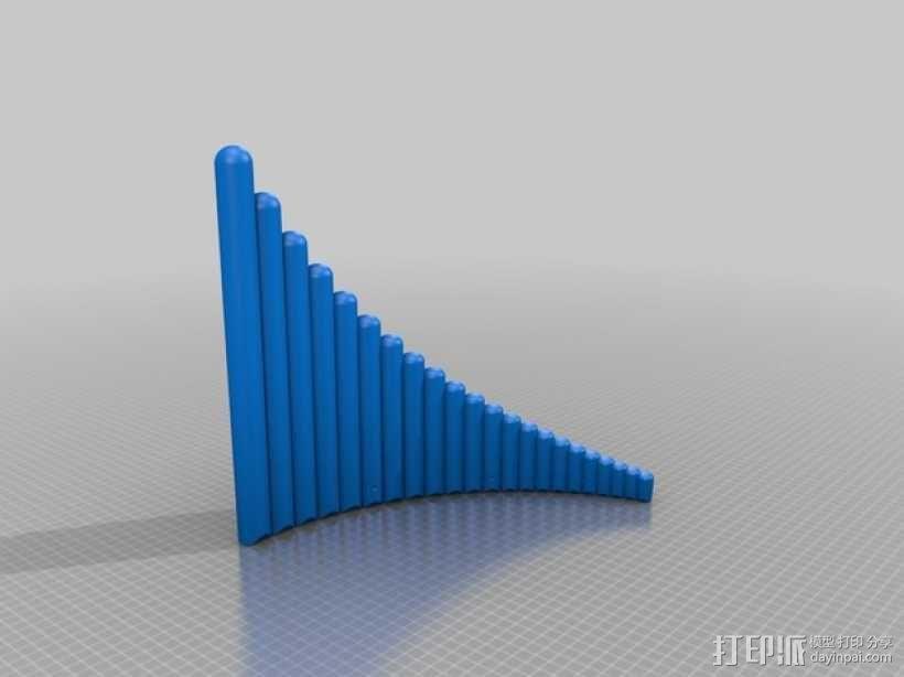 排箫 3D模型  图5