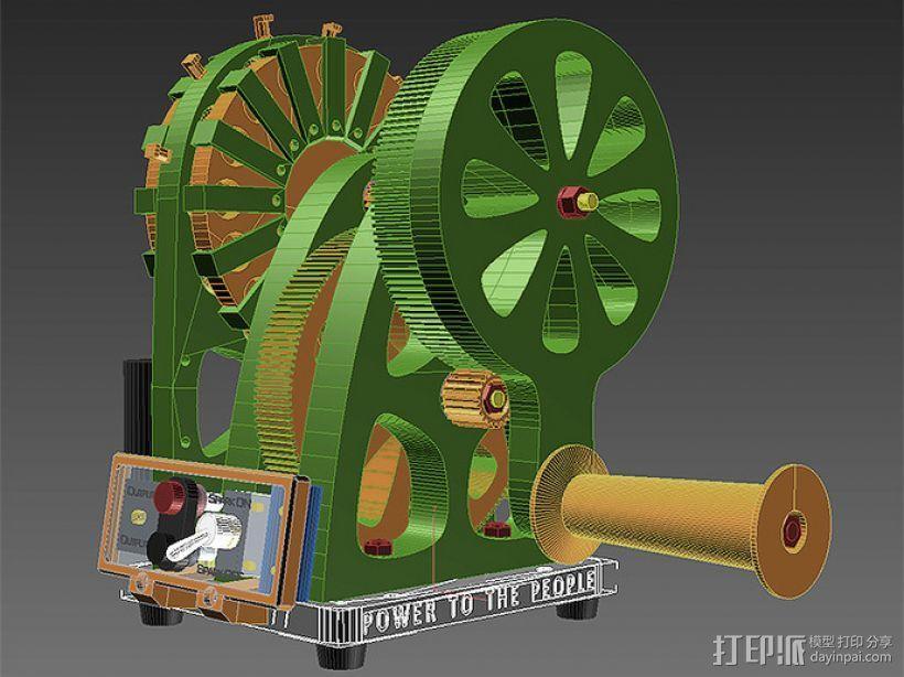 手动发电机 3D模型  图2