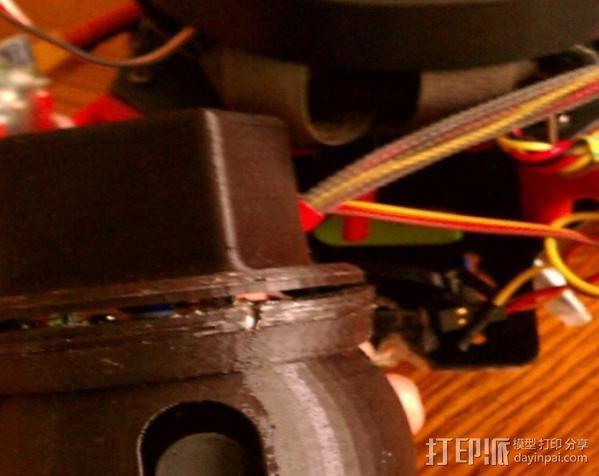 车载摄像机 常平架附件 3D模型  图2