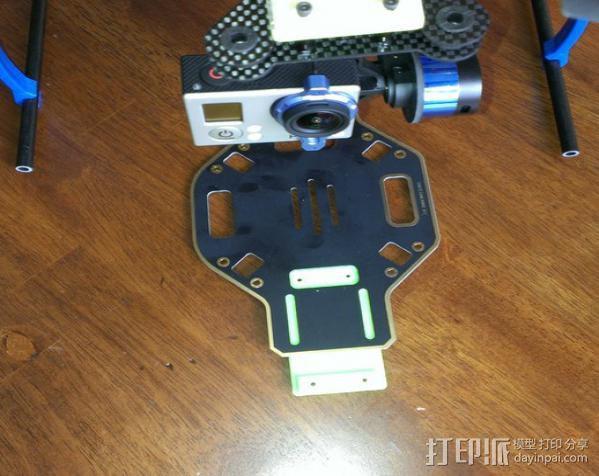 GoPro相机常平架底座 3D模型  图1
