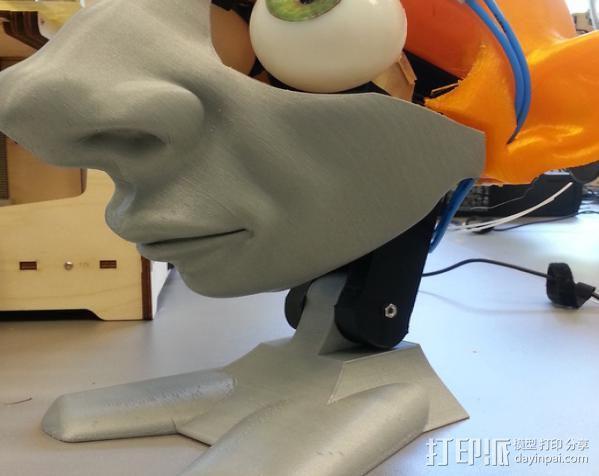 CarlTronic仿生机器人头部 3D模型  图4