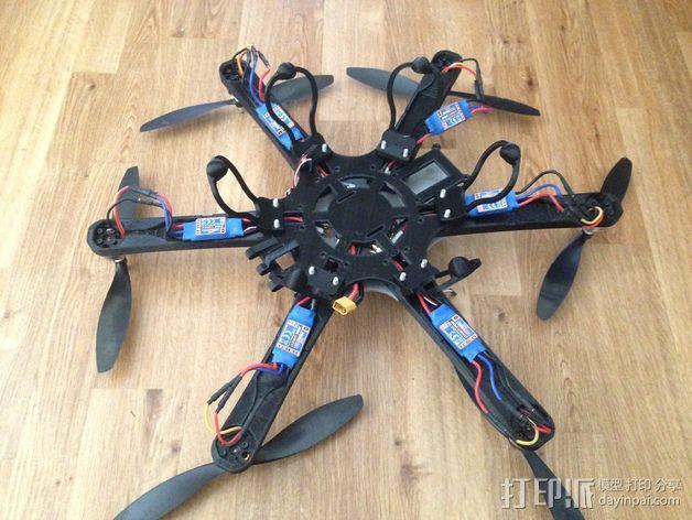 六轴飞行器 3D模型  图2