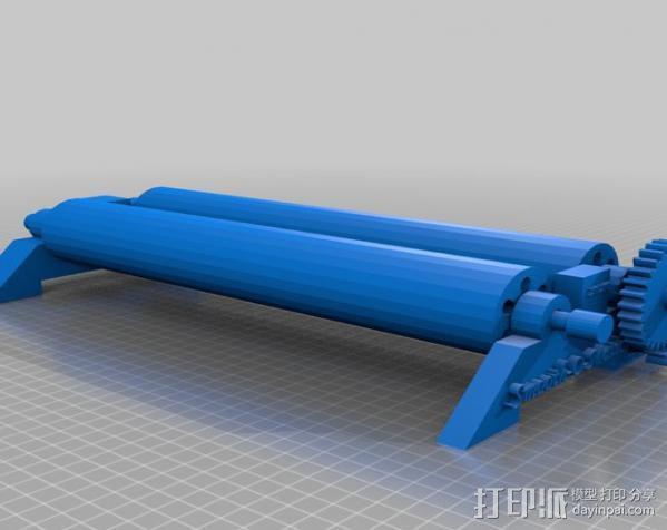 石头打磨抛光机零部件 3D模型  图5