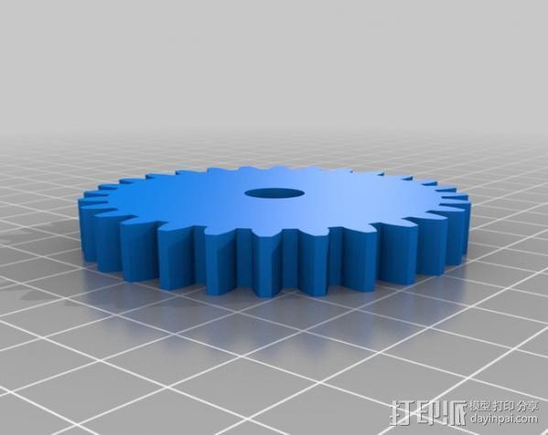 石头打磨抛光机零部件 3D模型  图8