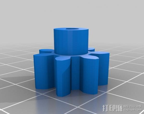 石头打磨抛光机零部件 3D模型  图14