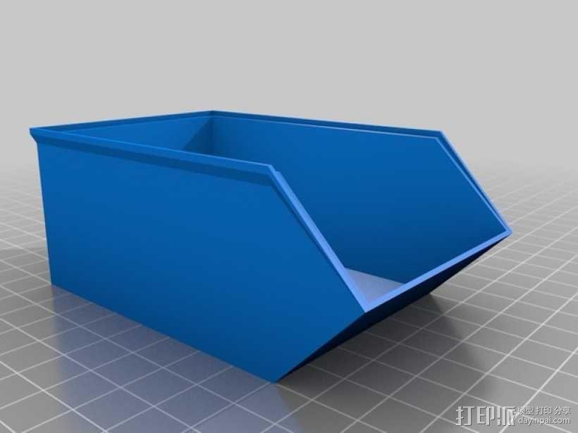 可堆叠零部件小盒 3D模型  图1