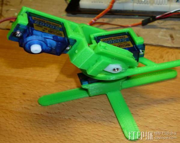 微伺服机械臂 3D模型  图7
