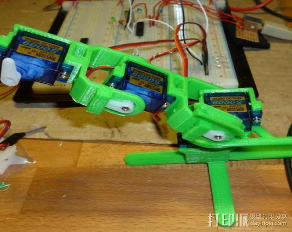 微伺服机械臂 3D模型  图9