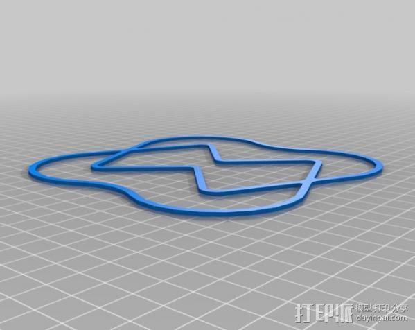 Hubsan X4迷你四轴飞行器 保护装置 3D模型  图1