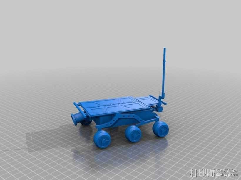 """""""火星探路者""""探测器 3D模型  图1"""