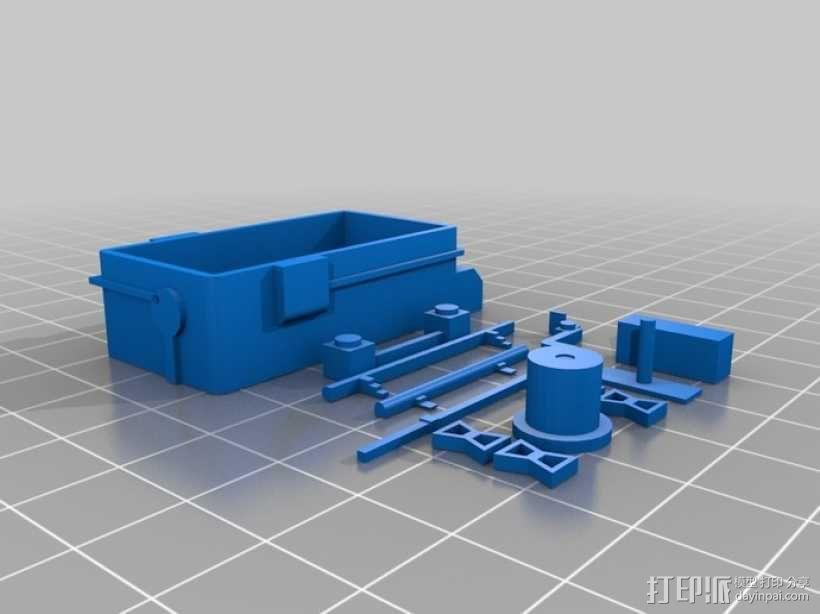 """""""火星探路者""""探测器 3D模型  图4"""