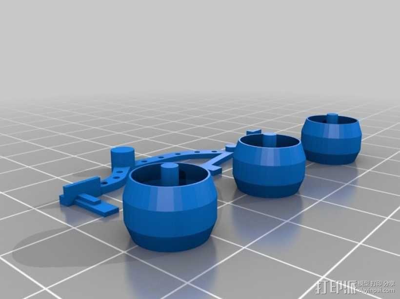 """""""火星探路者""""探测器 3D模型  图3"""