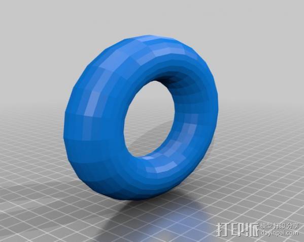 甜甜圈 线筒 3D模型  图1