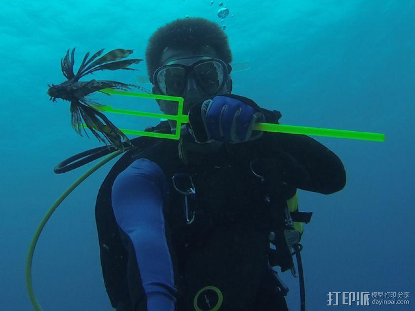 捕获狮子鱼的长矛 3D模型  图1